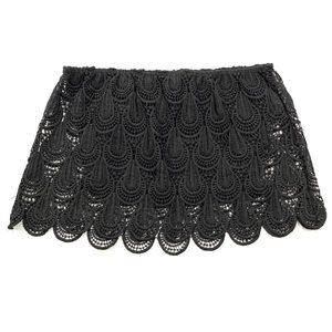 LA Hearts Black Lace Overlay Cropped Tube Top